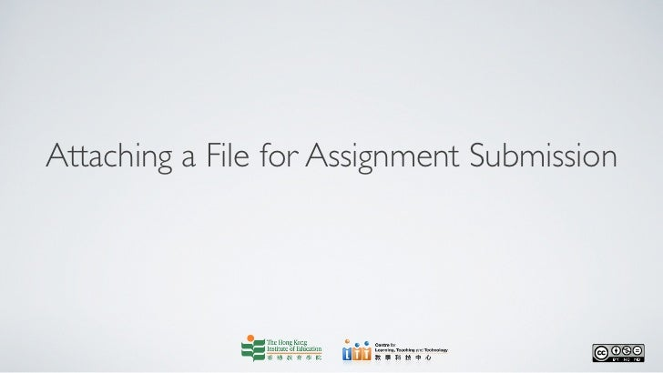 Attaching a File for Assignment Submission