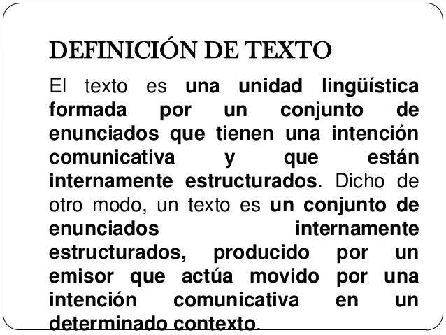 ling u00fc u00edstica del texto