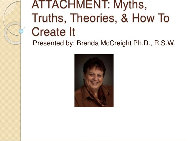 ATTACHMENT: Myths,Truths, Theories, & How ToCreate ItPresented by: Brenda McCreight Ph.D., R.S.W.