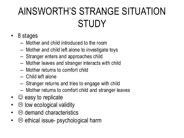 The Ainsworth Strange Situation - Stony Brook