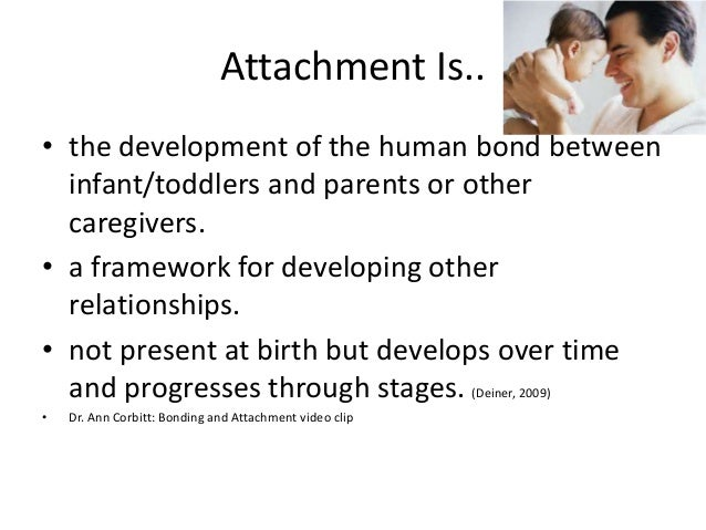 understanding attachment Attachment theory john bowlby was a psychoanalyst and has developed his knowledge and understanding into the theory of attachment bowlby believed that children have been born programmed to form attachments which will help them survive this is known as evolutionary attachments.