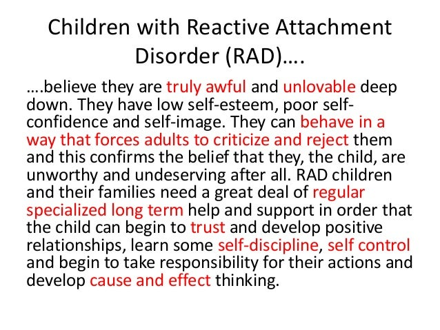 reactive attachment disorder adults relationships