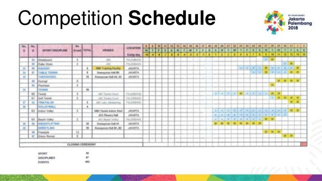 asian games 2018 20 638 - Asian Games 2018 Competition Schedule