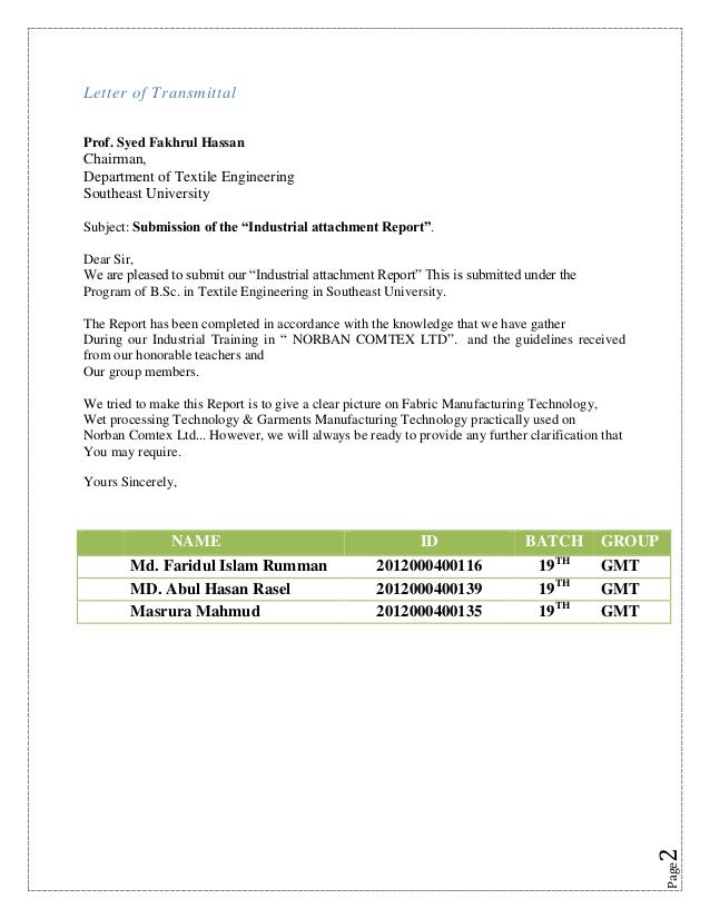 how to write an industrial attachment report This attachment report is my original work which has not been presented to any other examination body no part of this report should be reproduced without my consent or that of the kenya institute of management.