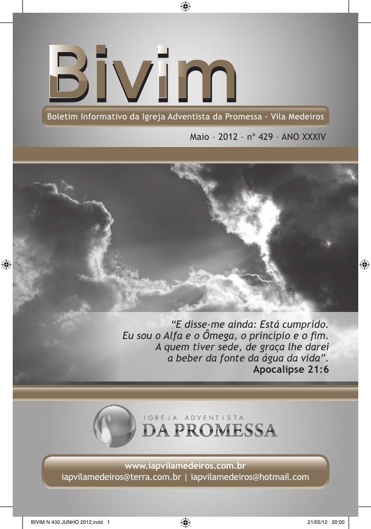 Boletim Informativo da Igreja Adventista da Promessa - Vila Medeiros                                              Maio – 2...