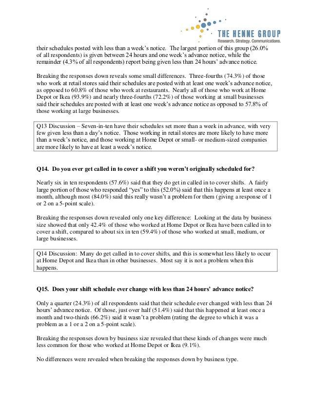 Emeryville Fair Work Week employee survey analysis