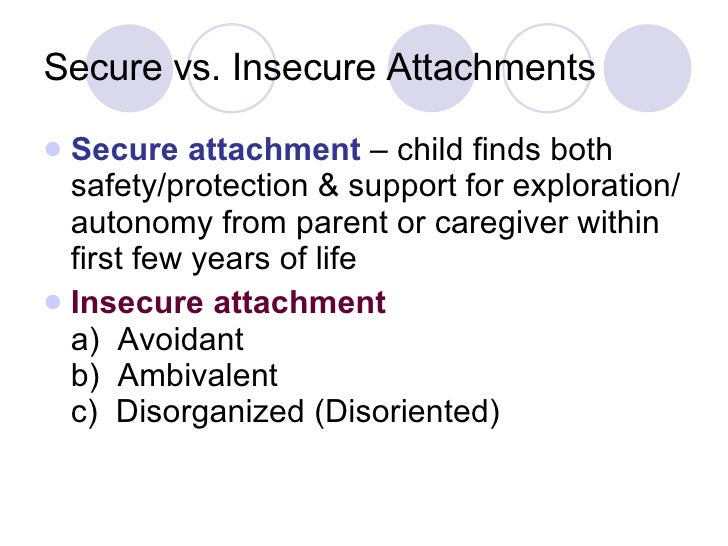 insecure attachment An insecure attachment develops when the caregiver is unavailable or does not  respond to the baby's needs consistently thus, the baby does not have a.