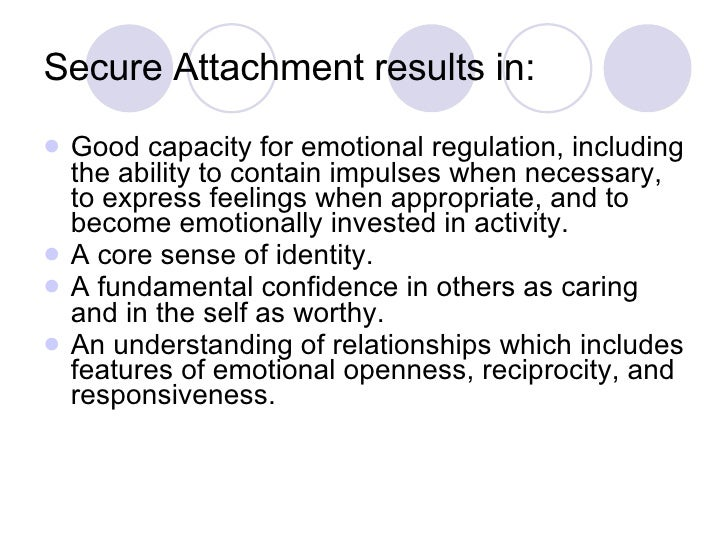 relationship between temperament and emotional attachment between parent and child essay The influence of parents on children's self-regulation of emotions and  the  child's inborn temperament), and variations in the parent-child relationship   since research has found strong links between infants' attachment.