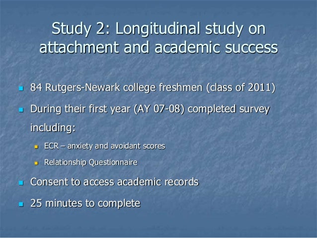 Attachment and college academic success a four-year