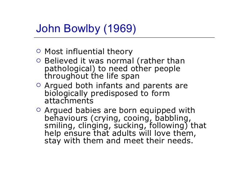outline and evaluate bowlbys theory of This theory can also be criticised by bowlby's evolutionary theory who argues it is developed through a process of evolution, and is a result of nature  the various components of the theory of planned behaviour behavioural beliefs and evaluations, normative beliefs  a given social ideal or behaviour.