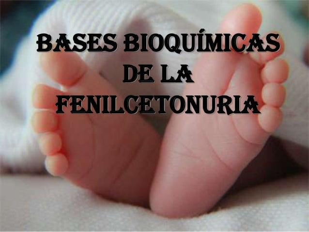 BASES BIOQUÍMICAS      DE LA FENILCETONURIA