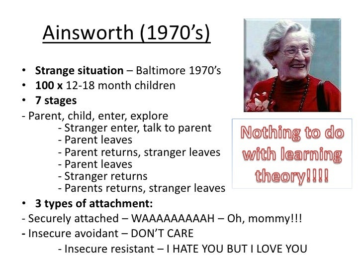 how the mary ainsworth child attachment theory has influenced today s practices