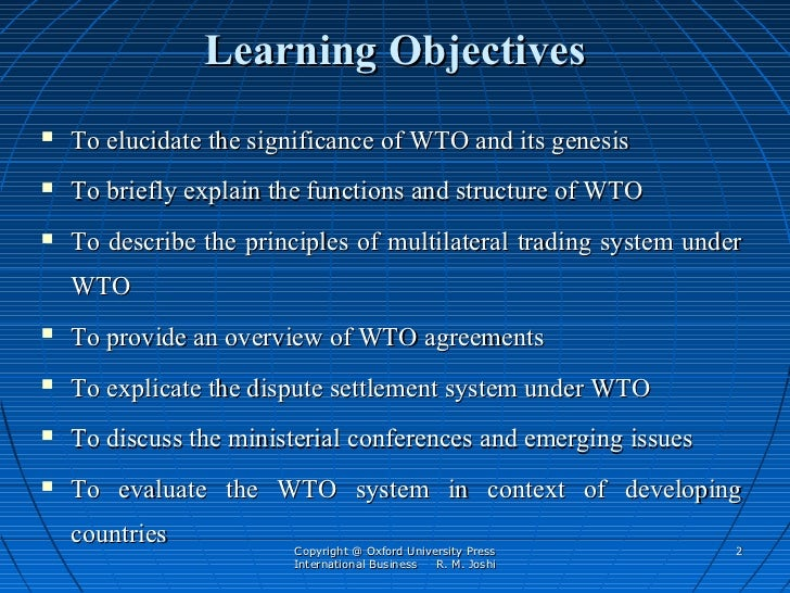 Core principles of multilateral trading system