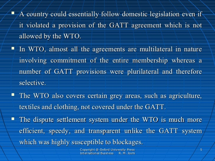 short note on wto
