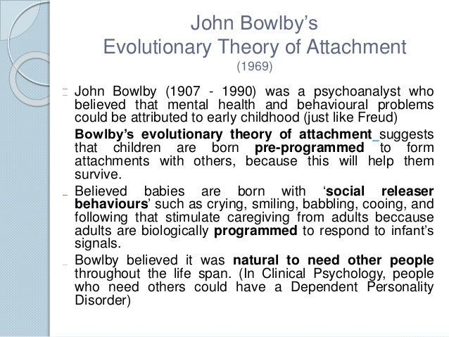 Bowlby attachment theory styles