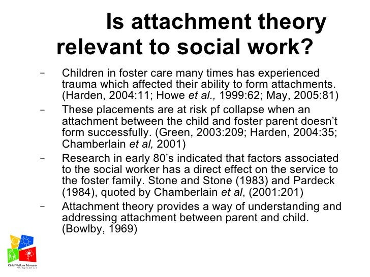 attachment utilisation of social workers in foster care supervision s u2026