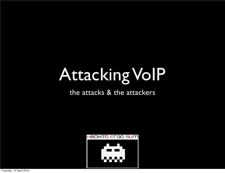 Attacking voip