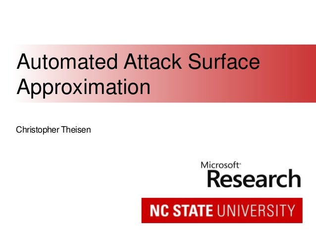 Christopher Theisen Automated Attack Surface Approximation