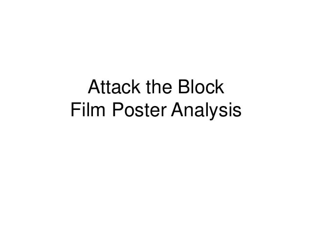 Attack the Block Film Poster Analysis