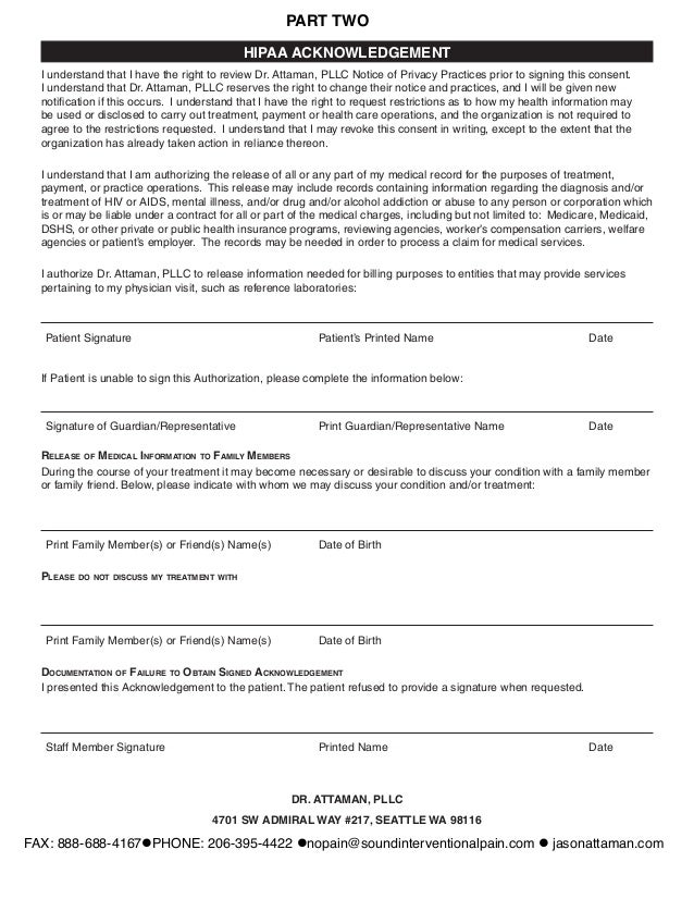 Dr. Attaman New Patient Intake Form