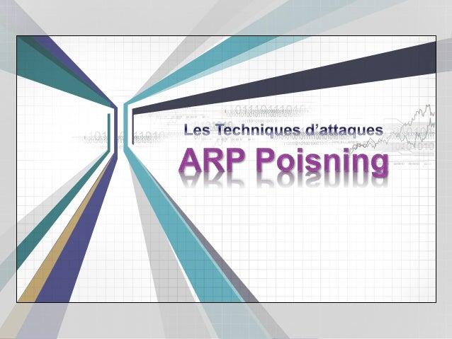 Le protocole ARP Introduction Fonctionnement Démonstration