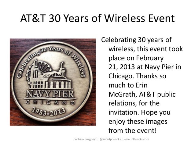 AT&T 30 Years of Wireless Event                             Celebrating 30 years of                               wireless...