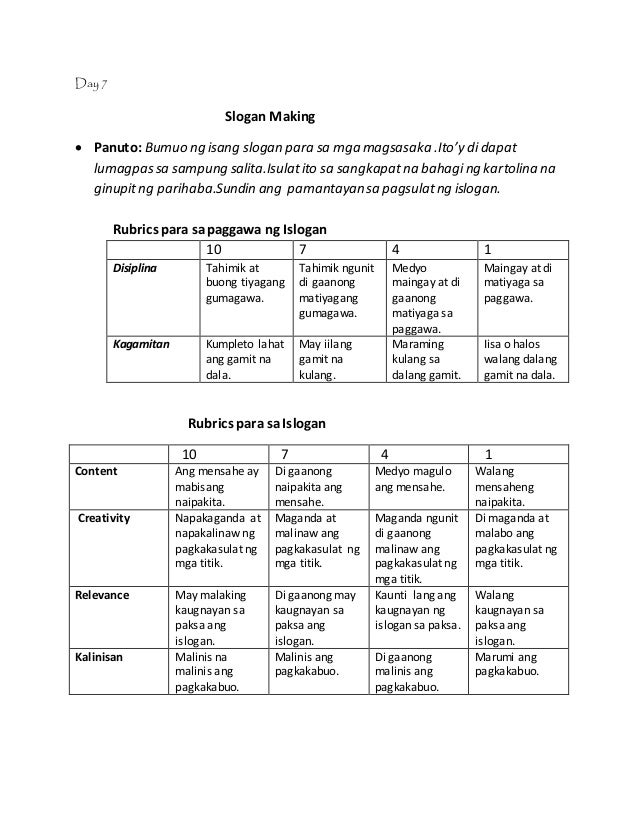 rubric for analysis essay