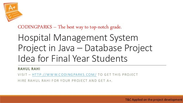 Hospital Management System in JAVA Free Student Projects - oukas info