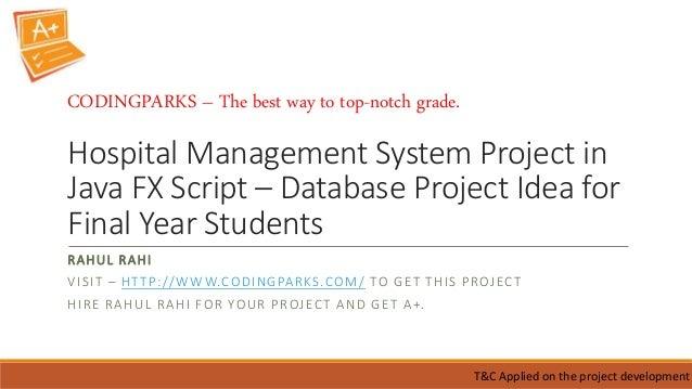 Hospital management system project in java fx script database proj…