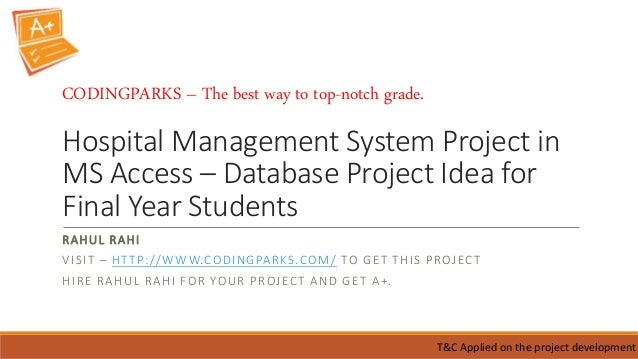 list of database management system projects