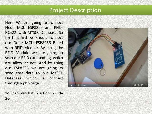 Attendance System using ESP8266(Wi-Fi) with MySQL