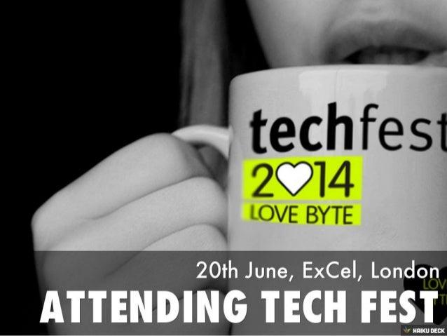 Attend Tech Fest 2014