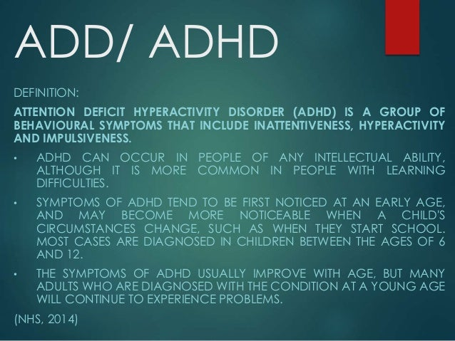 an analysis of symptoms and professional diagnosis of adhd in young children