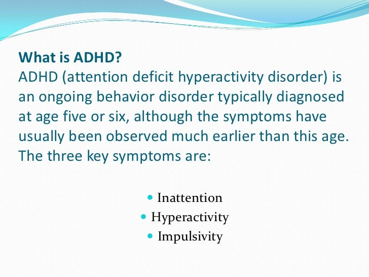an examination of attention deficit disorder Intentional inattention: detecting feigned attention-deficit/hyperactivity disorder  on the personality assessment inventory psychological assessment, 29(12),.