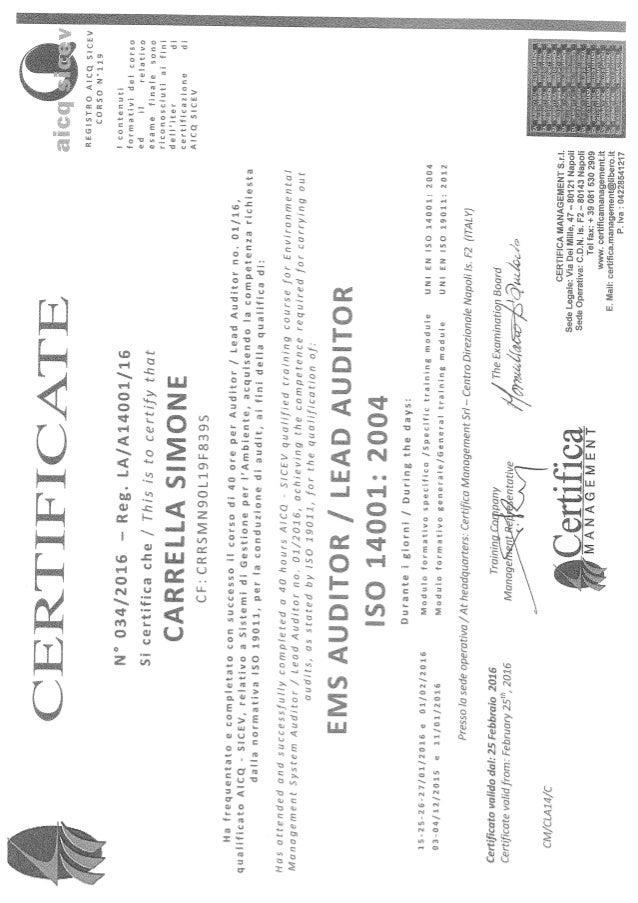 Attestati Auditor 90011400118001