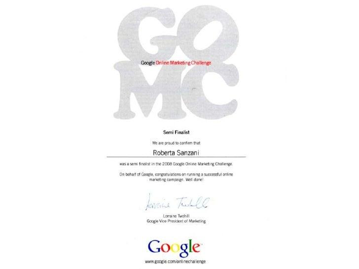 Attestato google challenge