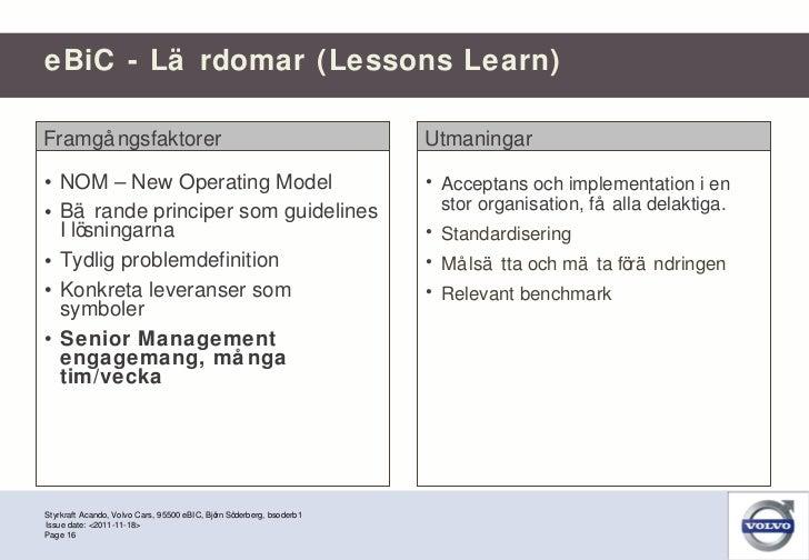 <ul><li>NOM – New Operating Model </li></ul><ul><li>Bärande principer som guidelines I lösningarna </li></ul><ul><li>Tydli...