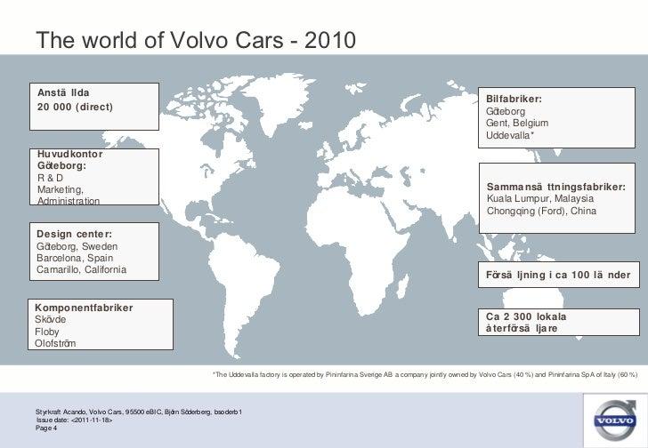 Styrkraft Acando, Volvo Cars, 95500 eBIC, Björn Söderberg, bsoderb1 Page  Issue date: <2011-11-18> Sammansättningsfabriker...