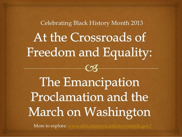 Celebrating Black History Month 2013More to explore: www.africanamericanhistorymonth.gov/