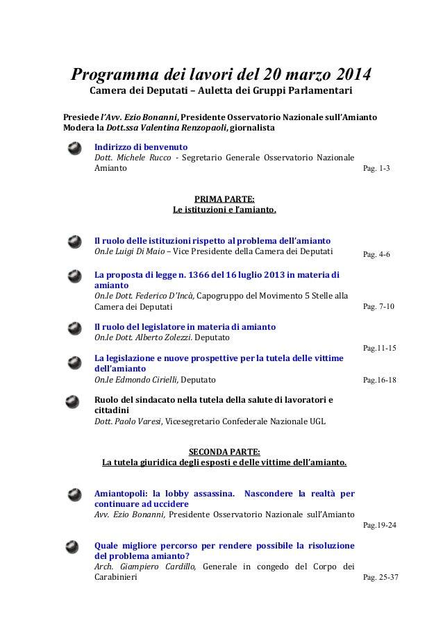 Atti roma 20 1a parte for Atti parlamentari camera