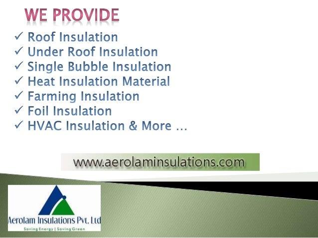 Attic Insulation Material Suppliers India