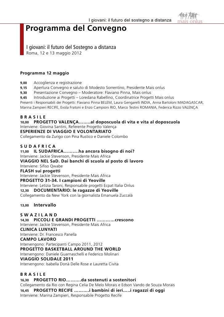 MAIS Onlus  Atti del Convegno 2012