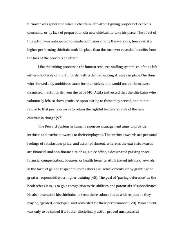 attila the hun essay relation to modern day human resources 3 turnover