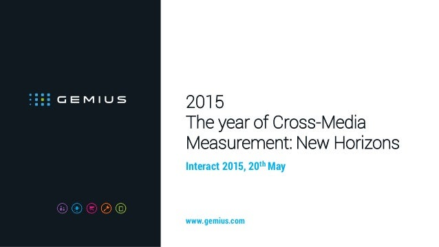 2015 The year of Cross-Media Measurement: New Horizons Interact 2015, 20th May www.gemius.com