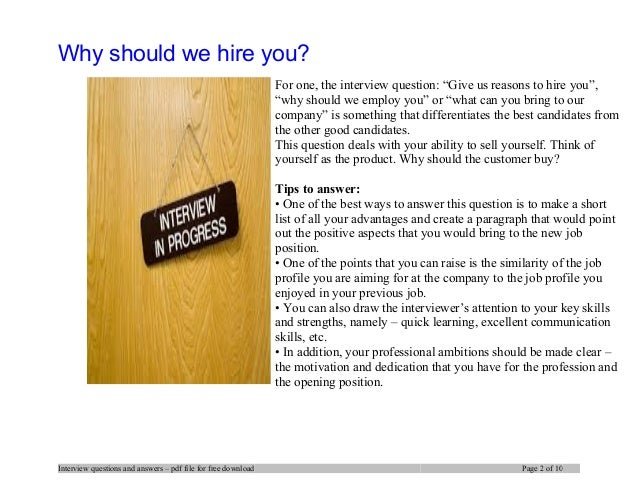 At&t interview questions and answers