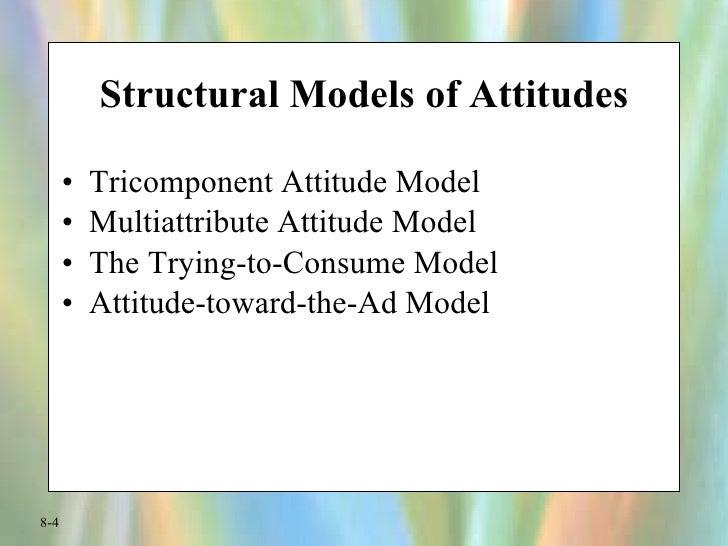 Structural Models of Attitudes <ul><li>Tricomponent Attitude Model </li></ul><ul><li>Multiattribute Attitude Model </li></...