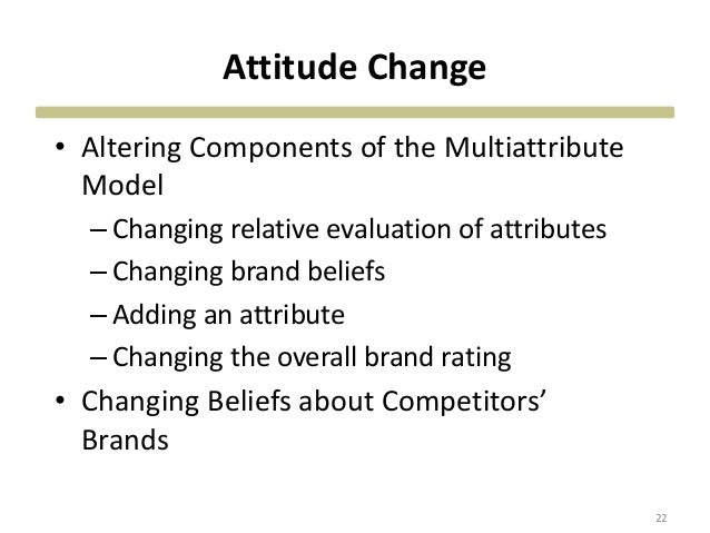 Changing the relative evaluation of attributes