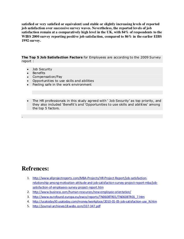 HASSAN Page         A Study on Employee Job Satisfaction     SlideShare