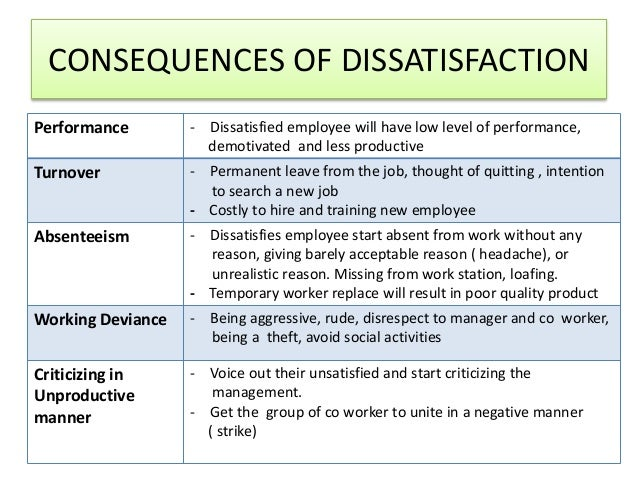 job satisfaction productivity absenteeism and turnover