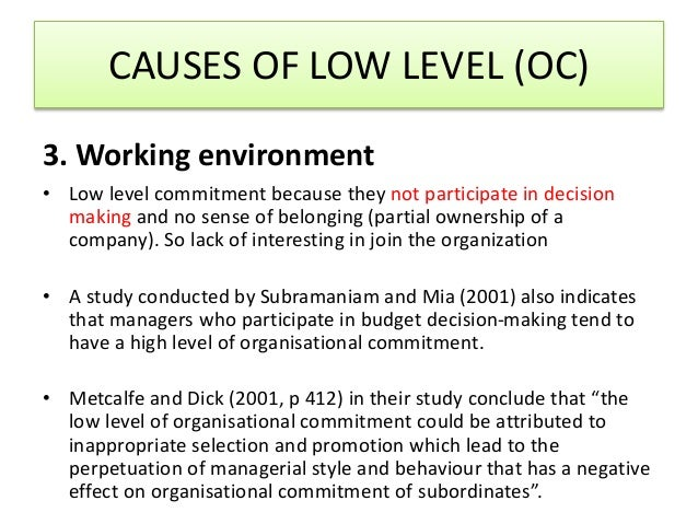 thesis on job satisfaction and organizational commitment Control of organizational silence lead to job satisfaction of employees and organizational commitment job satisfaction is formed after entering the organization but.